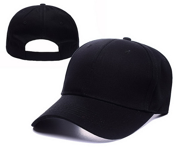 Black Blank Adjustable hat