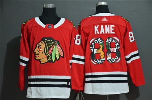 Blackhawks 88 Patrick Kane Red Fashion Adidas Jersey