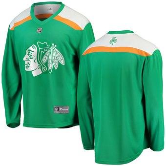 Blackhawks Green 2019 St. Patrick's Day Adidas Jersey