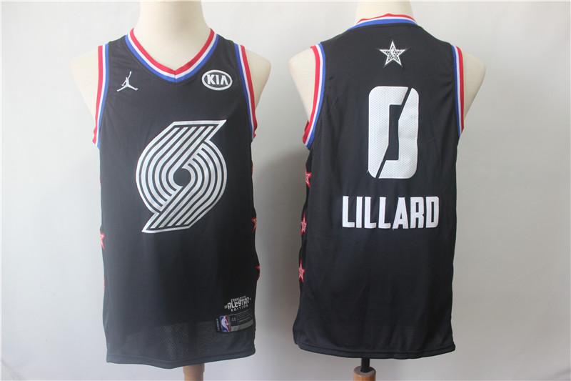 Blazers 0 Damian Lillard Black 2019 NBA All-Star Game Jordan Brand Swingman Jersey
