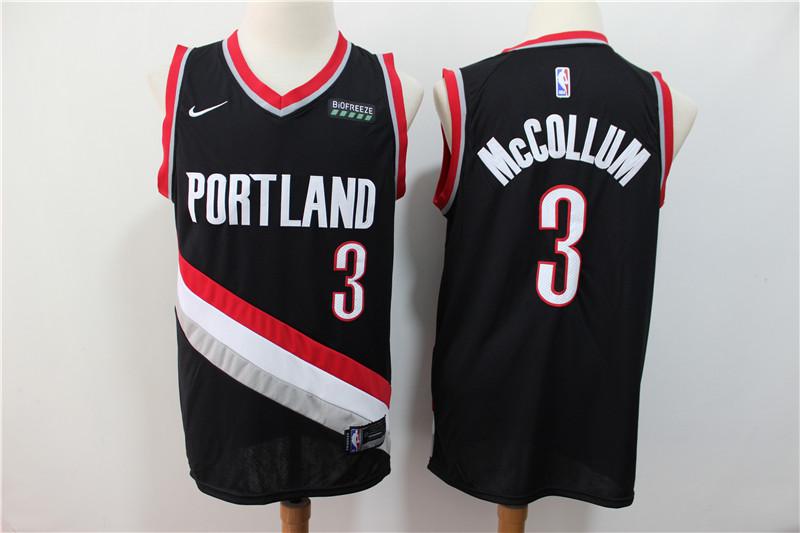 Blazers 3 C.J. McCollum Black City Edition Nike Swingman Jersey