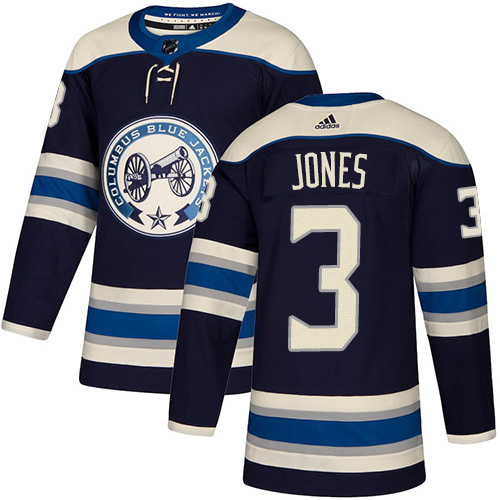 Blue Jackets #3 Seth Jones Navy Alternate Authentic Stitched Hockey Jersey