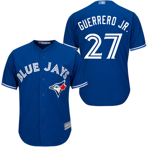 Blue Jays #27 Vladimir Guerrero Jr. Blue Cool Base Stitched Youth Baseball Jersey