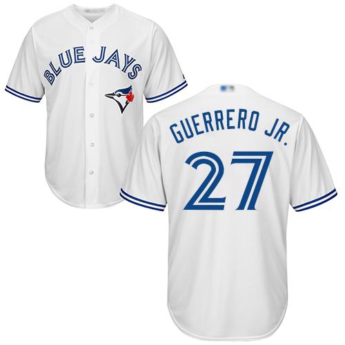 Blue Jays #27 Vladimir Guerrero Jr. White Cool Base Stitched Youth Baseball Jersey