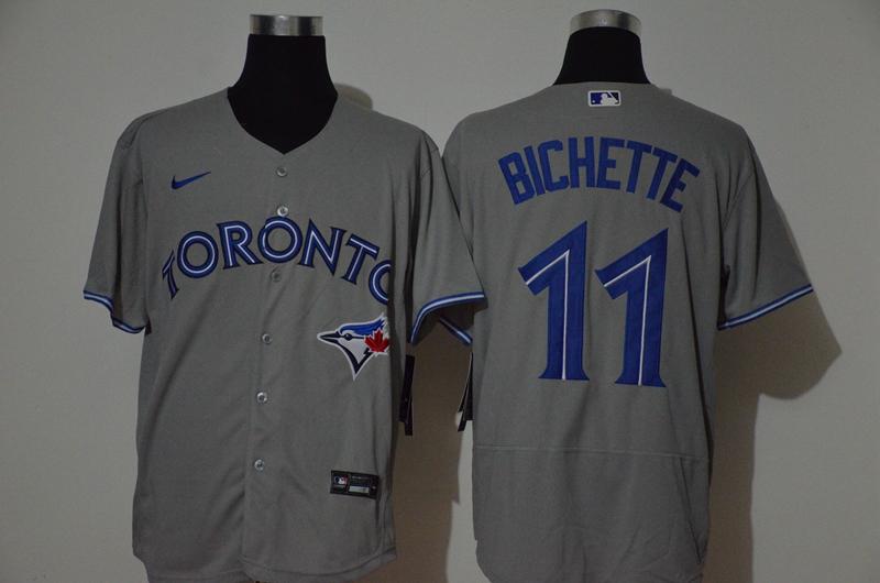 Blue Jays 11 Bo Bichette Gray 2020 Nike Flexbase Jersey
