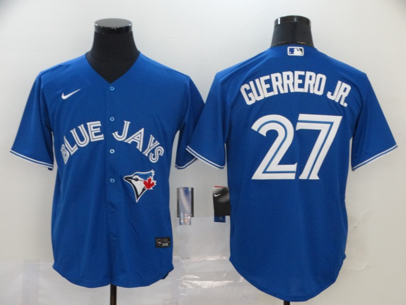 Blue Jays 27 Vladimir Guerrero Jr. Royal 2020 Nike Cool Base Jersey
