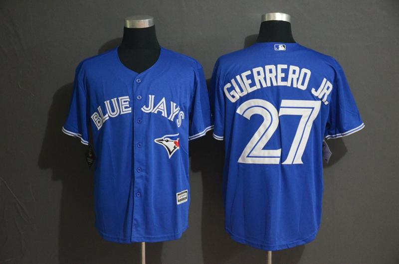 Blue Jays 27 Vladimir Guerrero Jr. Royal Cool Base Jersey