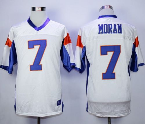 Blue Mountain State #7 Alex Moran White Stitched Football Jersey