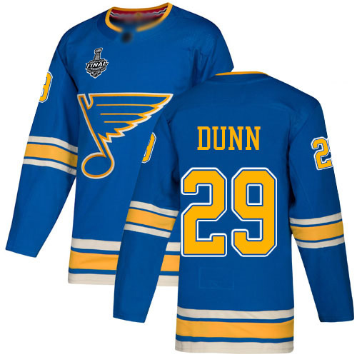 Blues #29 Vince Dunn Blue Alternate Authentic Stanley Cup Final Bound Stitched Hockey Jersey