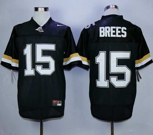 Boilermakers #15 Drew Brees Black Stitched NCAA Jersey