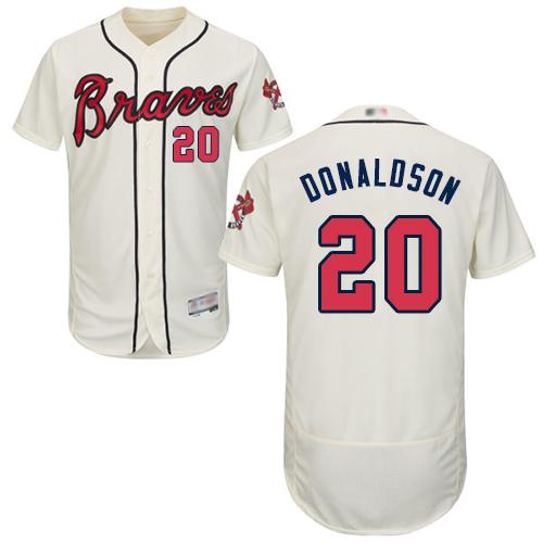 Braves #20 Josh Donaldson Cream Flexbase Authentic Collection Stitched Baseball Jersey