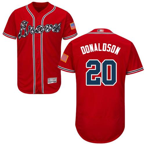 Braves #20 Josh Donaldson Red Flexbase Authentic Collection Stitched Baseball Jersey