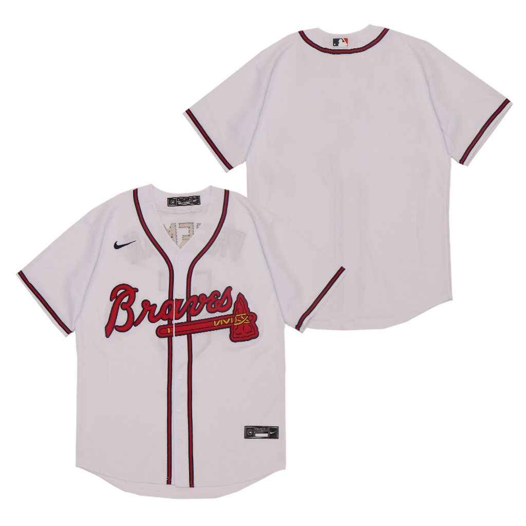 Braves Blank White 2020 Nike Cool Base Jersey