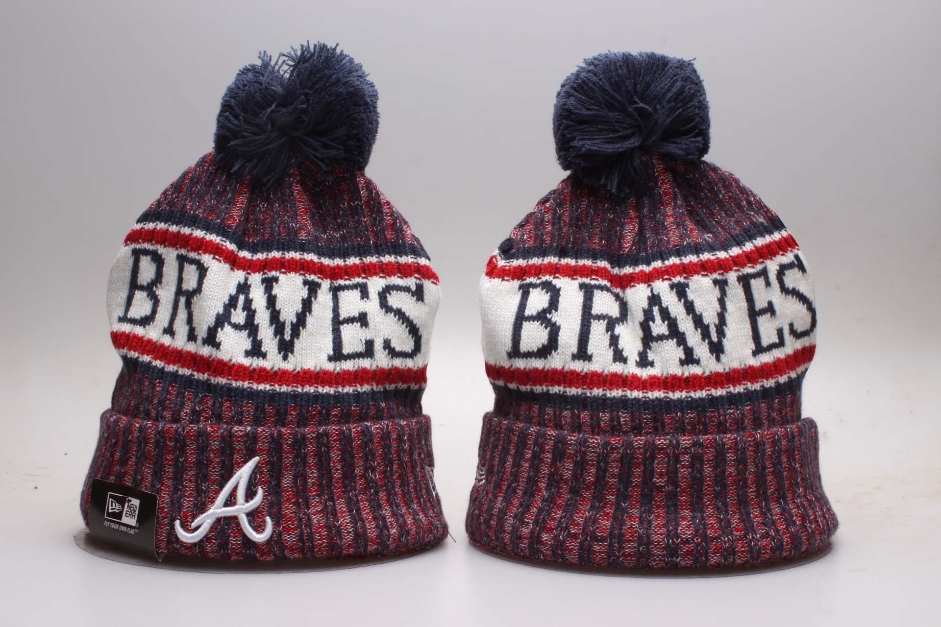Braves Fresh Logo Navy Knit Hat YP