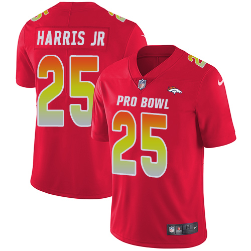Broncos #25 Chris Harris Jr Red Youth Stitched Football Limited AFC 2019 Pro Bowl Jersey