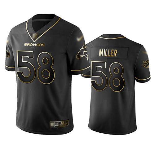 Broncos #58 Von Miller Black Men's Stitched Football Limited Golden Edition Jersey