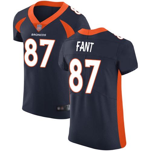 Broncos #87 Noah Fant Navy Blue Alternate Men's Stitched Football Vapor Untouchable Elite Jersey