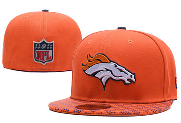 Broncos Team Logo Orange Fitted Hat LX