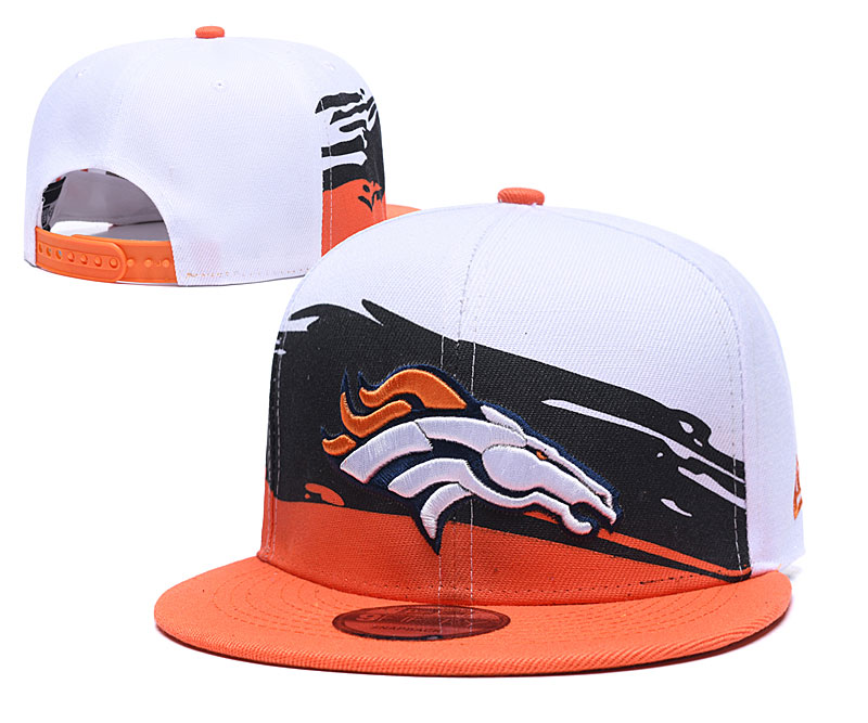 Broncos Team Logo White Orange Adjustable Hat GS