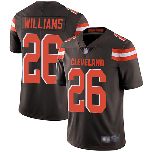 Browns #26 Greedy Williams Brown Team Color Youth Stitched Football Vapor Untouchable Limited Jersey