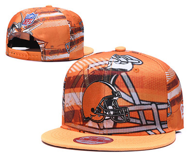 Browns Team Logo Orange Adjustable Hat TX