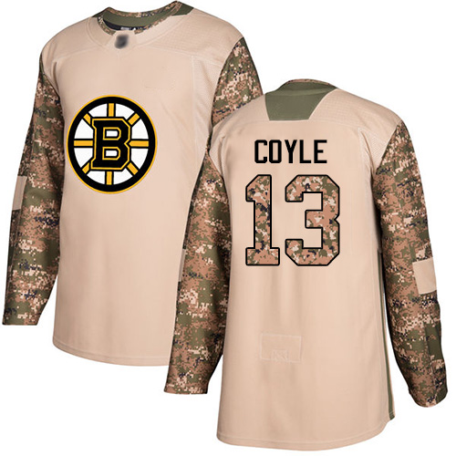 Bruins #13 Charlie Coyle Camo Authentic 2017 Veterans Day Stitched Hockey Jersey