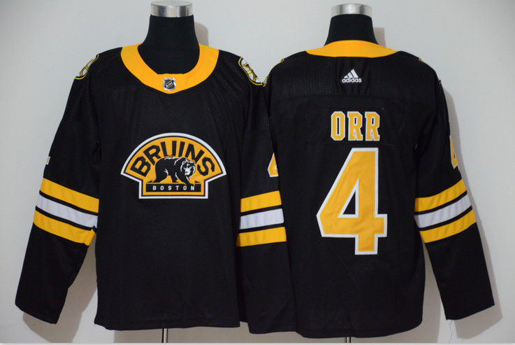 Bruins 4 Bobby Orr Black 3rd Adidas Jersey
