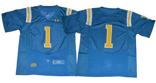Bruins No.1 Fans Blue Under Armour Premier Stitched NCAA Jersey