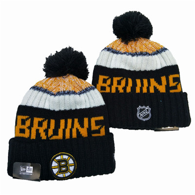 Bruins Team Logo Black Pom Knit Hat YD
