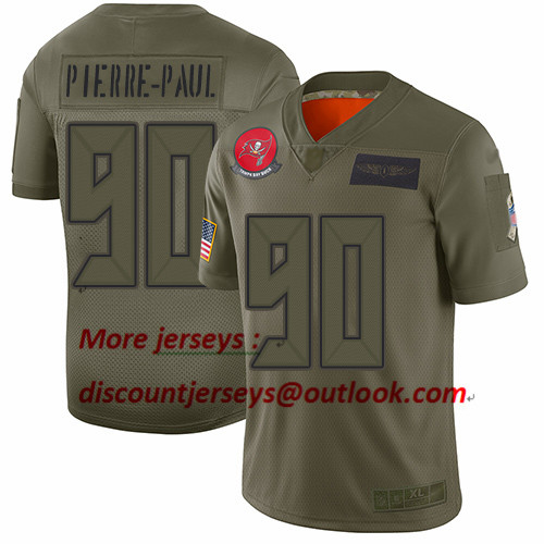 Buccaneers #90 Jason Pierre-Paul Camo Youth Stitched Football Limited 2019 Salute to Service Jersey