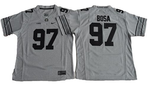 Buckeyes #97 Joey Bosa Gridion Grey II Women's Stitched NCAA Jersey