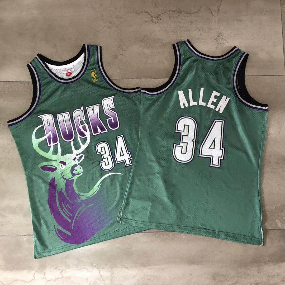 Bucks 34 Giannis Antetokounmpo Green Hardwood Classics Jersey