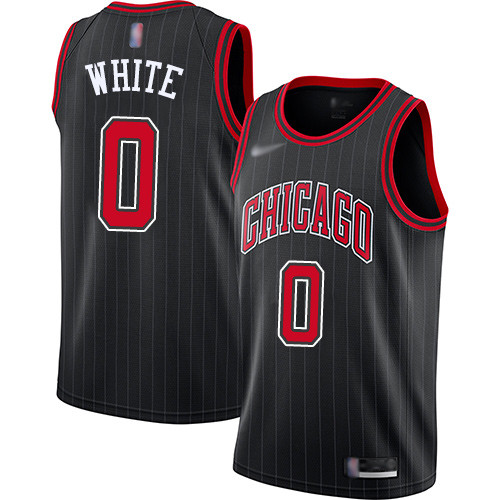 Bulls #0 Coby White Black Basketball Swingman Statement Edition 2019 2020 Jersey