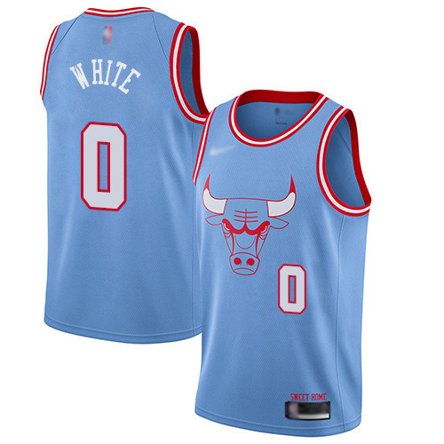 Bulls #0 Coby White Blue Basketball Swingman City Edition 2019 20 Jersey