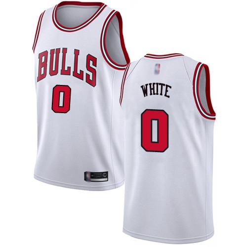 Bulls #0 Coby White White Basketball Swingman Association Edition Jersey