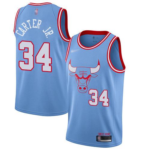 Bulls #34 Wendell Carter Jr. Blue Basketball Swingman City Edition 2019 20 Jersey