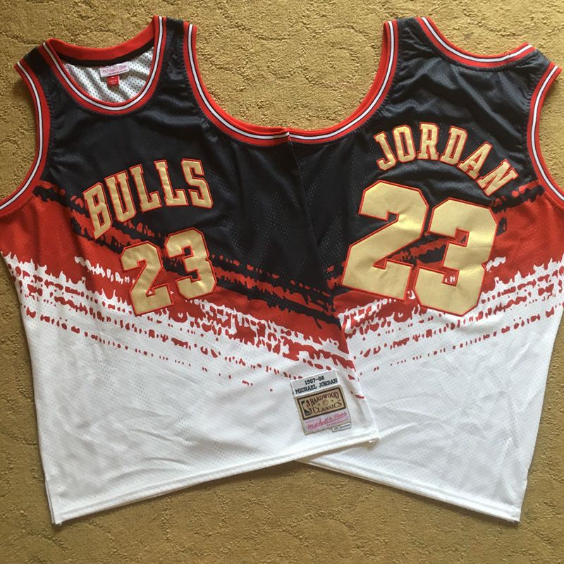 Bulls 23 Michael Jordan Multi Color 1997-98 Hardwood Classics Independent Swingman Jersey