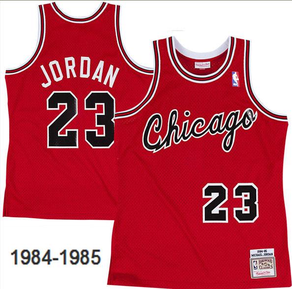 Bulls 23 Michael Jordan Red 1984-85 Hardwood Classics Mesh Jersey
