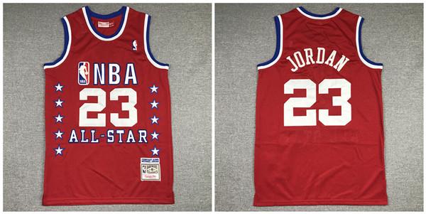 Bulls 23 Michael Jordan Red 1989 All-Star Hardwood Classics Jersey