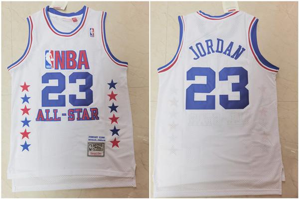 Bulls 23 Michael Jordan White 1989 All-Star Hardwood Classics Jersey