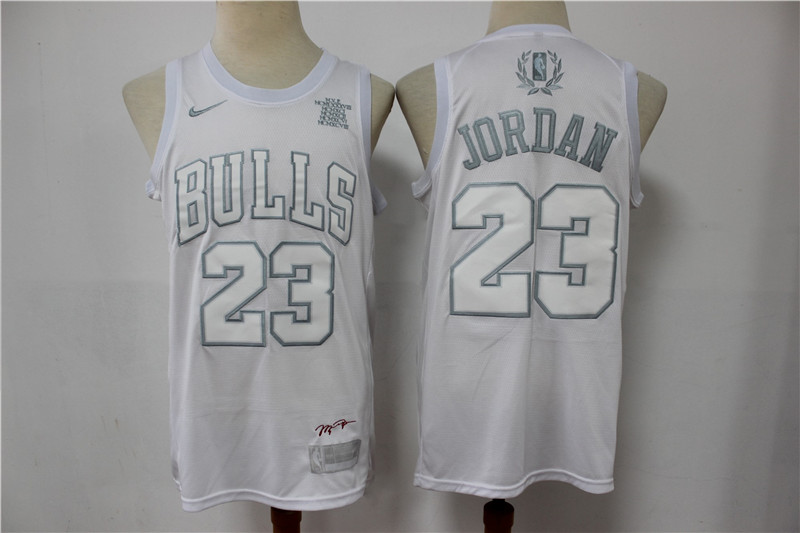 Bulls 23 Michael Jordan White MVP Nike Swingman Jersey
