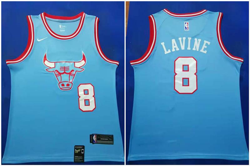 Bulls 8 Zach Lavine Blue 2019-20 City Edition Nike Swingman Jersey