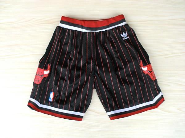 Bulls Black Throwback Shorts