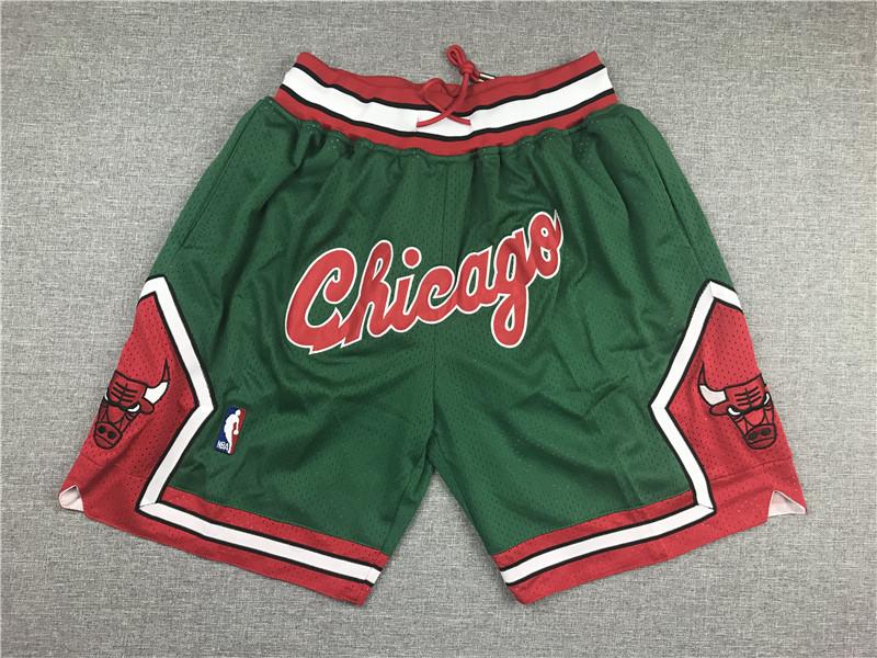 Bulls Green Pockets Swingman Shorts