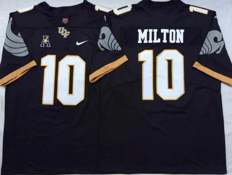 CF Knights 10 Mckenzie Milton Black College Football Jersey
