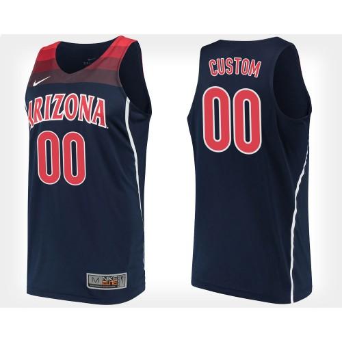 CUSTOM Arizona Wildcats #00 Navy College Basketball Jersey