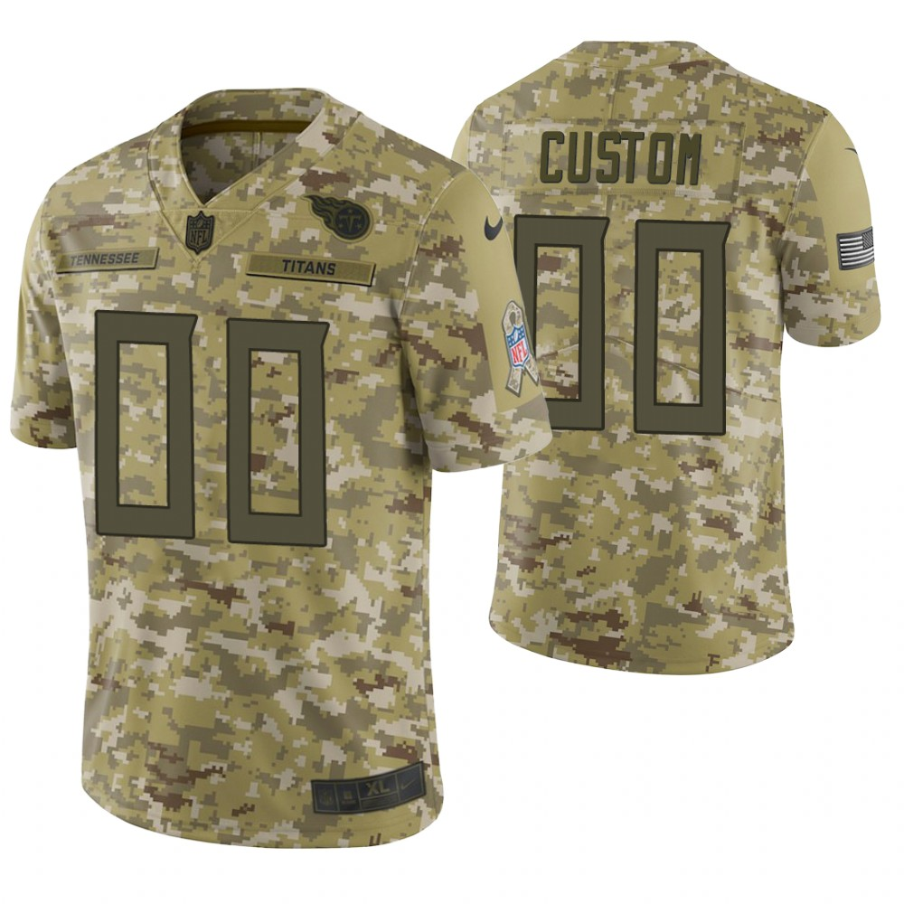 CUSTOM TENNESSEE TITANS CAMO 2018 SALUTE TO SERVICE LIMITED JERSEY