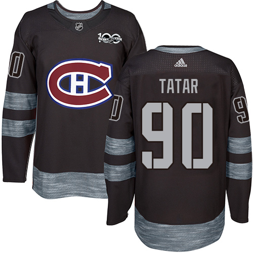 Canadiens #90 Tomas Tatar Black 1917-2017 100th Anniversary Stitched Hockey Jersey
