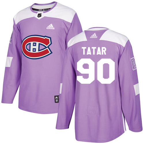 Canadiens #90 Tomas Tatar Purple Authentic Fights Cancer Stitched Hockey Jersey