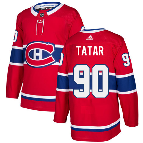 Canadiens #90 Tomas Tatar Red Home Authentic Stitched Hockey Jersey